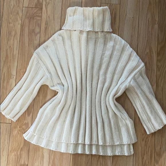 Cream knit turtleneck